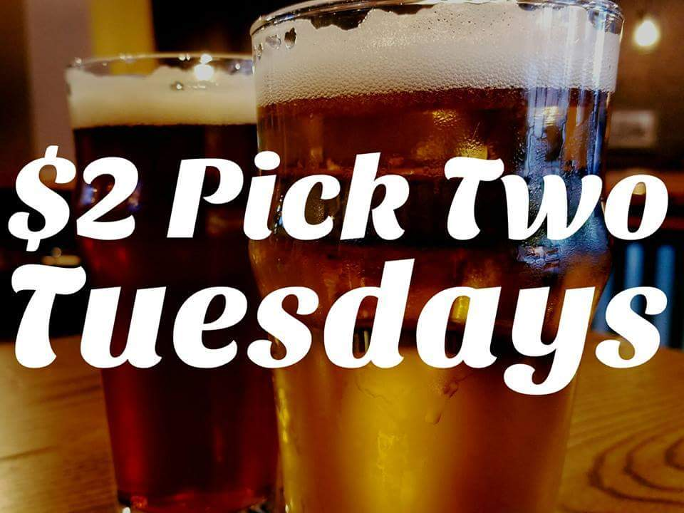 $2 PICK TWO TUESDAY - Amber Lager & Rooftop Knights Rye IPA